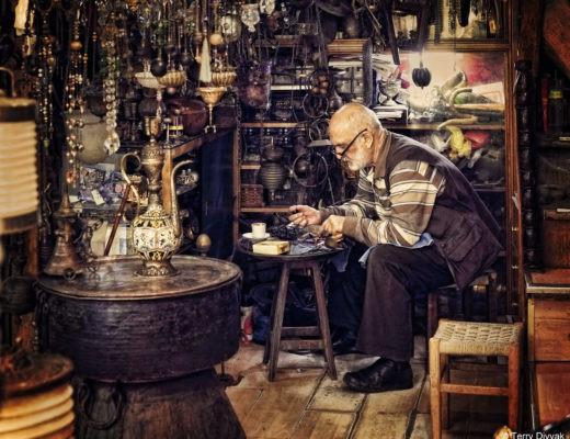 antique shop owner Istanbul