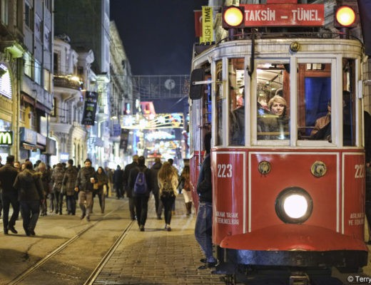 Taksim Square Trolley in Istanbul