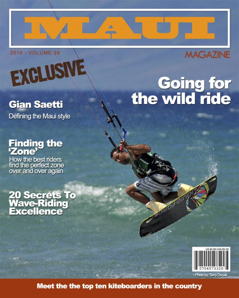 Fake Kiteboarding Magazine Cover