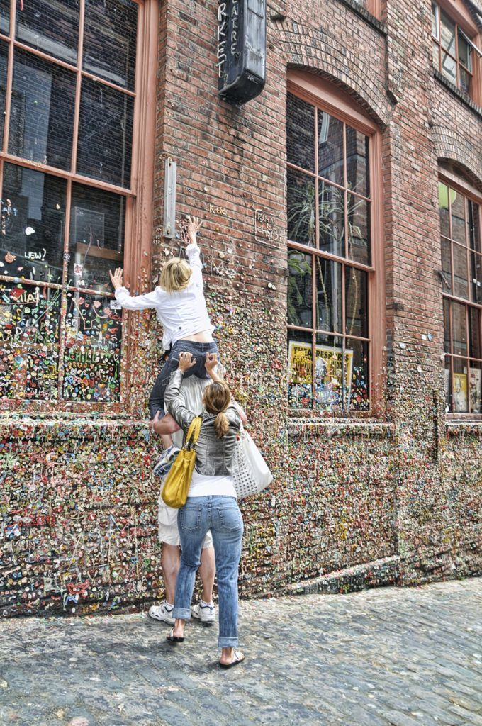 Funny Seattle Gum Wall Photo