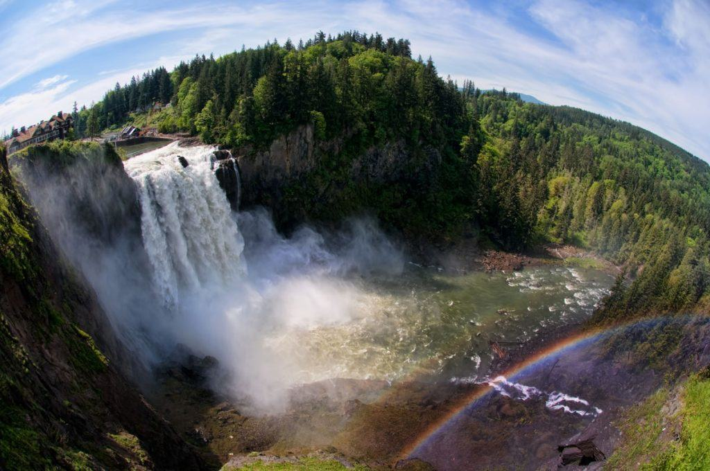 Snoqualmie Falls with Rainbow