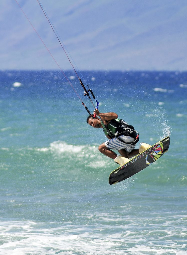 Kite Boarder in Maui