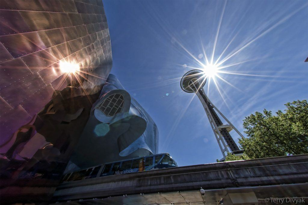 Space Needle with Monorail