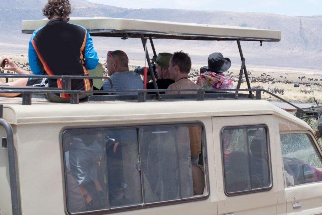 Crowded Safari Vehicle