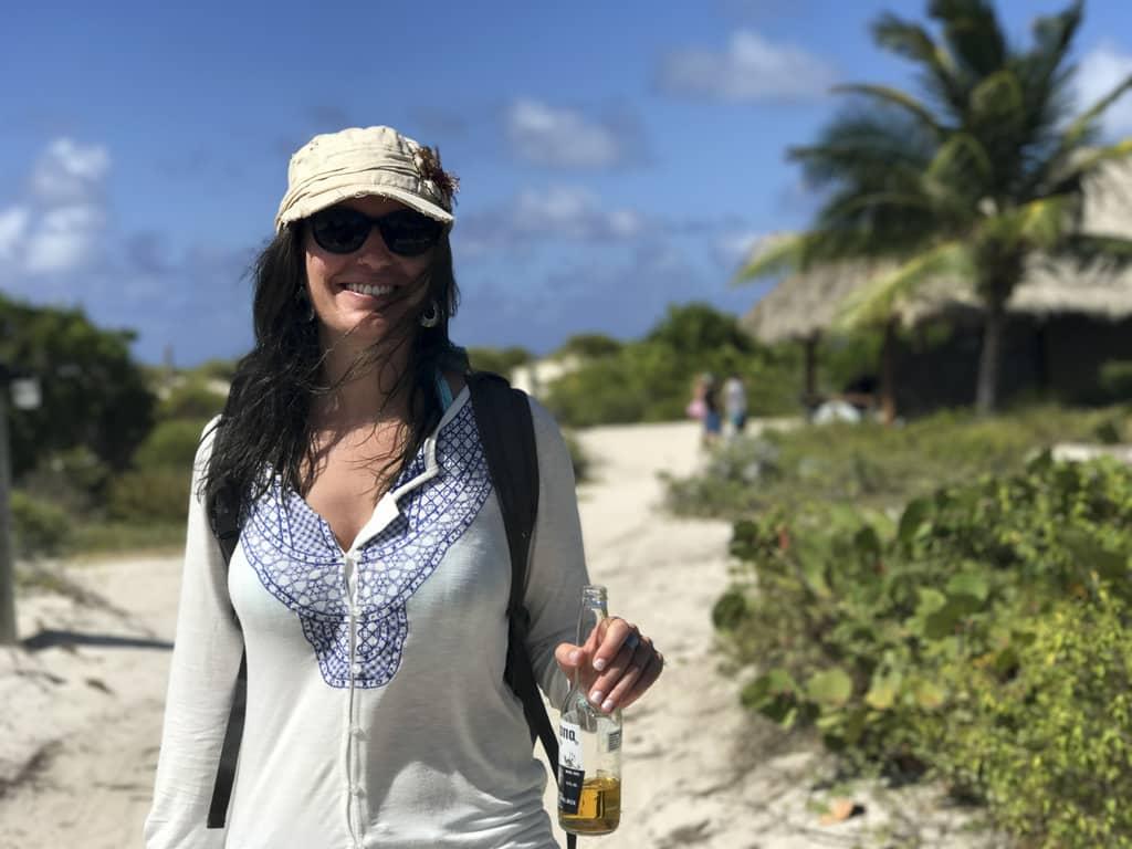 Amanda at Anegada Beach Club