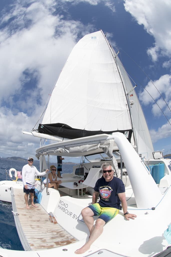 Voyage Charters Catamaran in the British Virgin Islands aboard the Knot Bad