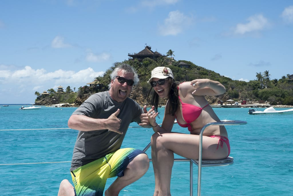Amanda and I in the British Virgin Islands