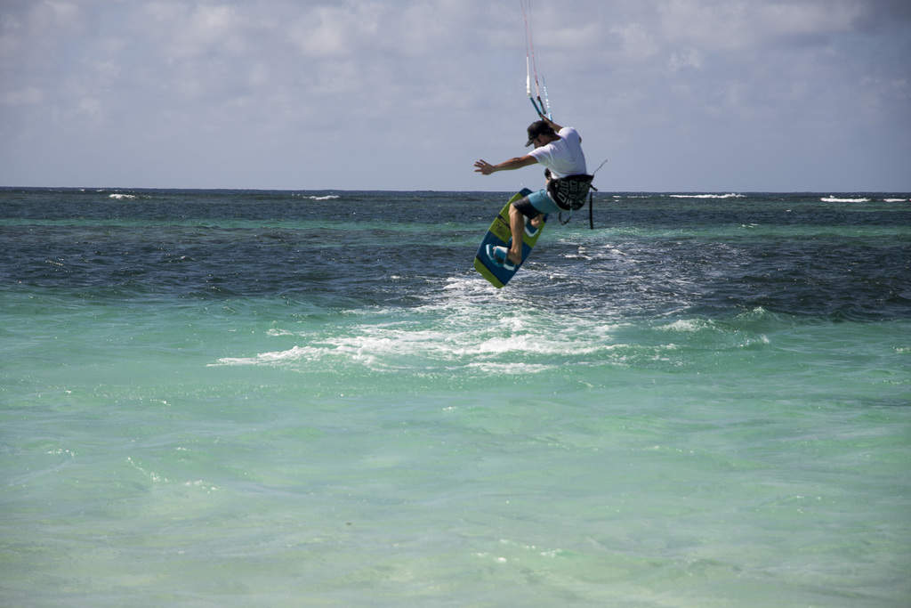 Damian windsurfing on Anegada