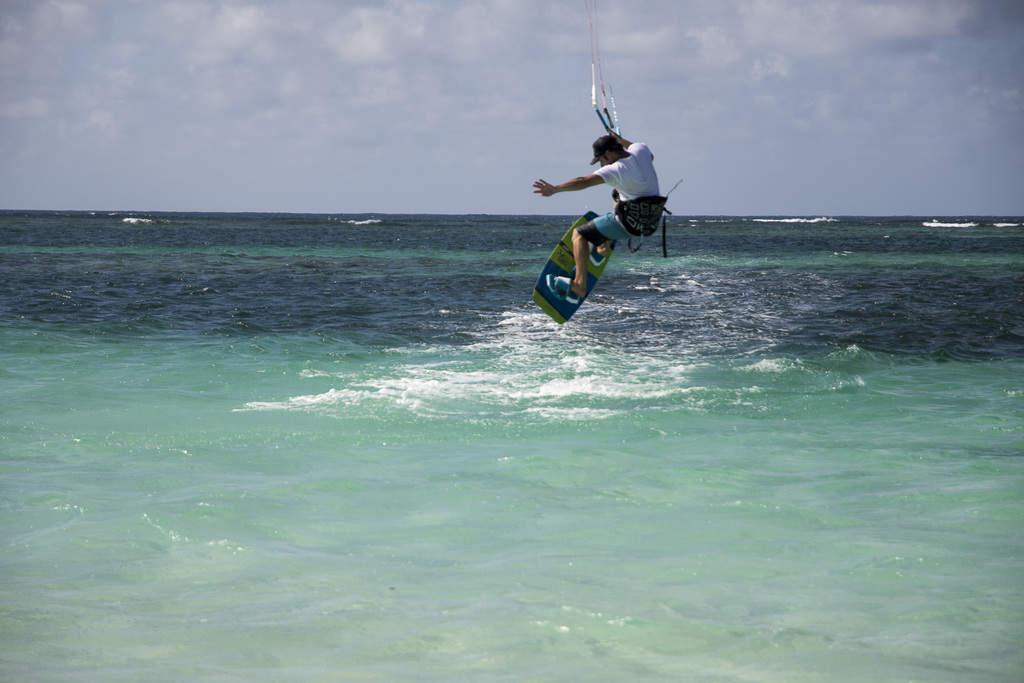 Damian windsurfing on Anegada