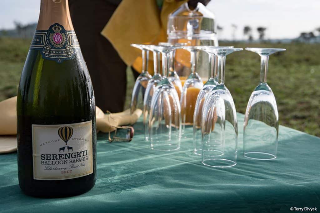 Serengeti HotAir Balloon Champagne