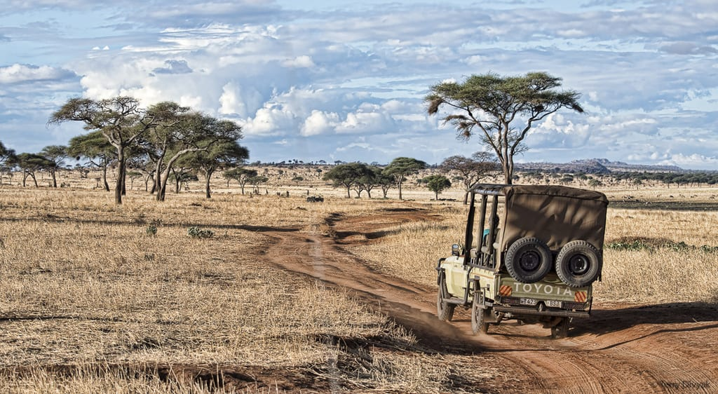 Open Air Safari Vehicle in Tanzania