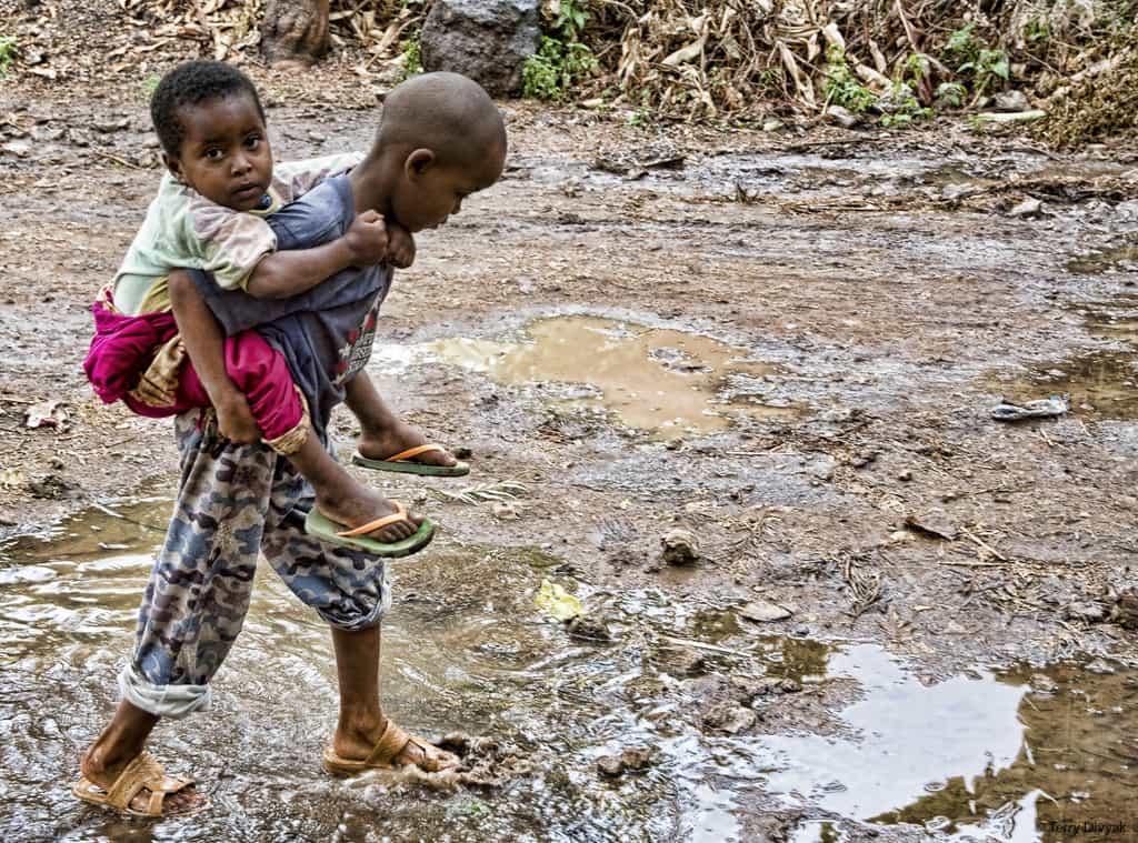 Children in Mto wa Mbu Tanzania