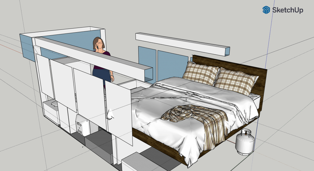 Sketchup plans for tour bus conversion