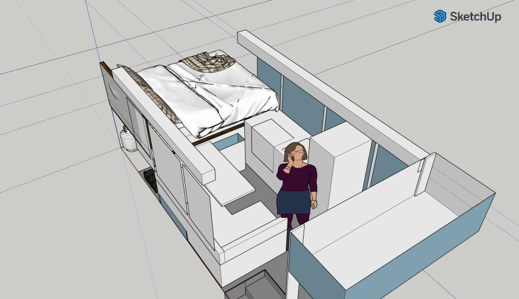 Sketchup build for short bus conversion