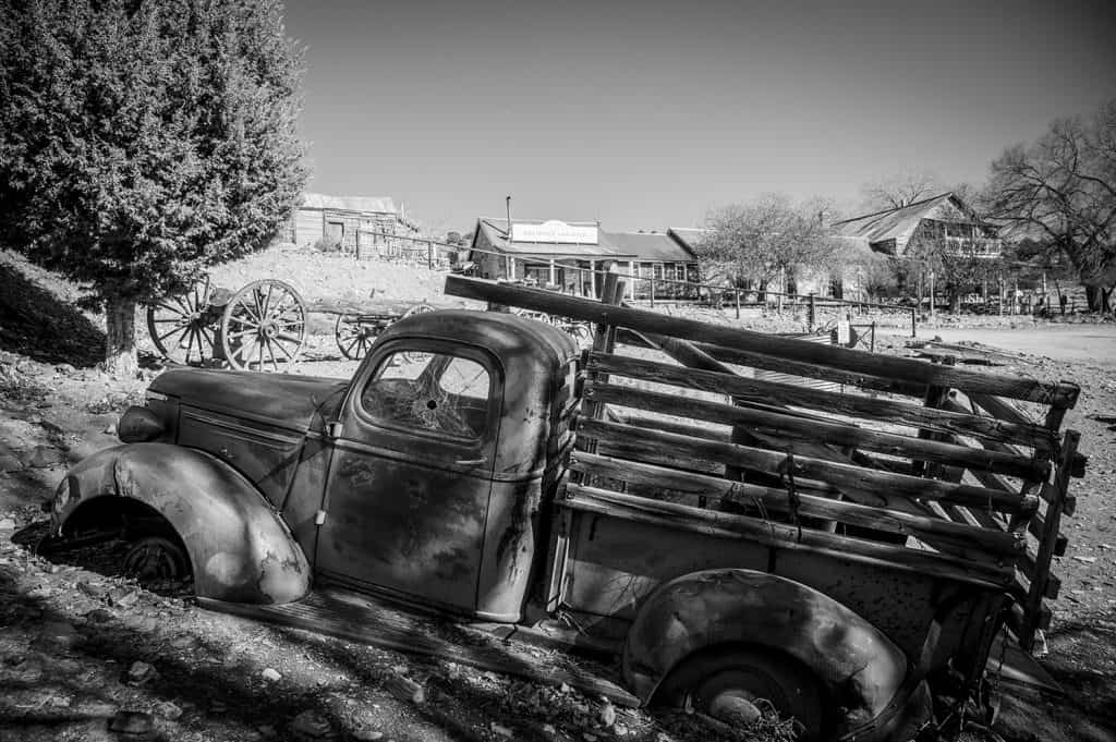 Old truck in Belmont, Nevada