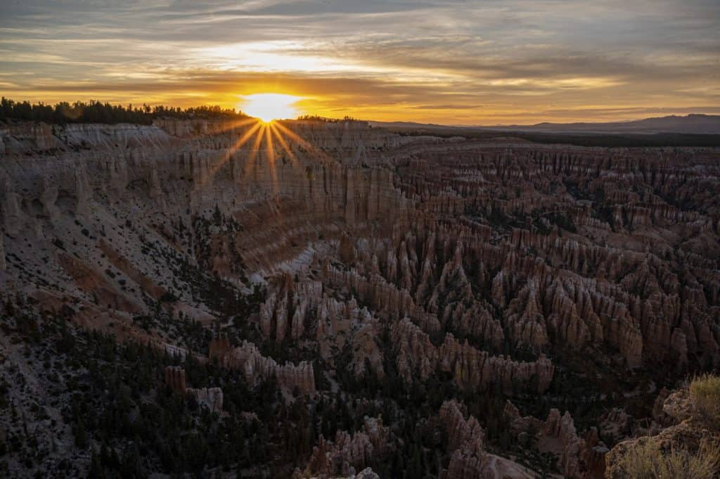Bryce Canyon Sunset from Bryce Point