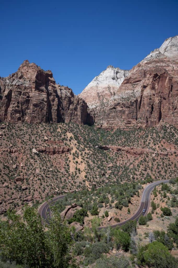 Curvy Road in Zion National Park